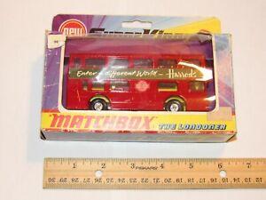 1972 MATCHBOX SUPER KINGS LONDONER DIE-CAST DOUBLE DECKER BUS!  Mint in Box!