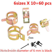 60PCS 6-15mm Spring Clip Vacuum Fuel Oil Hose Line Air Tube Band Clamp 6 Sizes