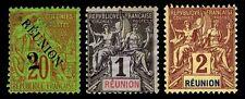 1891-1905 REUNION #32 & 34-35 - NEW & USED - F/VF - CV $9.75 (ESP#2349)