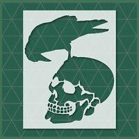 Skeletons Skull Hands stencil  -  Reusable Template - Halloween