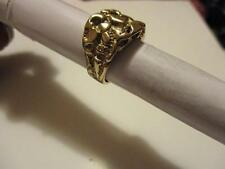 14k Solid Gold Nugget Ring, Size 9.5
