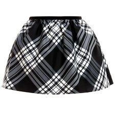 Ralph Lauren Girls Tartan Skirt 11/12y Black White Tafetta Plaid (153cm)