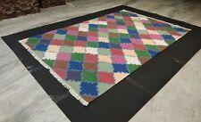 Handmade Cotton Patchwork Design Home Decorative Rug Rectangle 5x8 Feet Area Rug