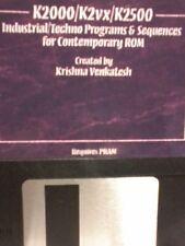 Kurzweil ~ RARE ~ K2000/K2VX/K2500 INDUSTRIAL TECHNO Programs & Sequences!!!