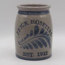 Frick Hospital Mt. Pleasant Pennsylvania Handmade Crock Stoneware