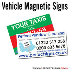 Magnetic Vehicle Signs Digitally Printed Car Magnet Full Colour 300mmX150mm X 2