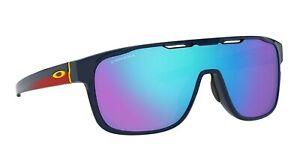 NEW OAKLEY CROSSRANGE SHIELD Navy Prizm Sapphire Iridium Sunglasses OO 9387 1031