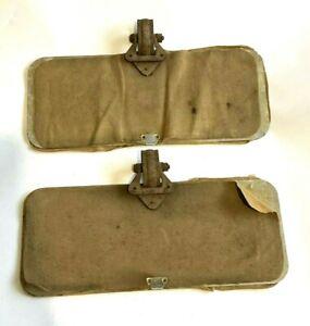 Vintage Khaki Cloth Sun Visors, WW2 Staff Car Austin Morris Rootes Bedford VSCC