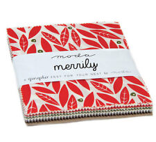 "Moda FABRIC Charm Pack ~ MERRILY ~ by Gingiber  5"" squares"