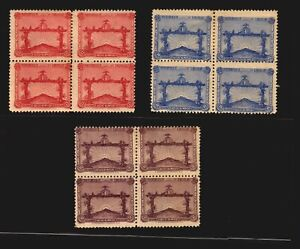 Soccer Football World cup Olympic 1928 Uruguay MLH #388-390 Lighthouse block of4