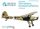 Quinta studio's QD48078 1/48 Fi-156 Interior 3D decal for Tamiya kit