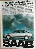 1990 SAAB advertisement page, Saab 9000 Turbo