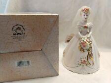 """Vtg Htf Josef Originals 38660 Applause porcelain Bride wedding figurine 7""""Nib"""