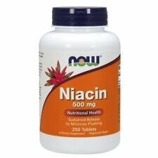 NOW FOODS, NIACIN, Vitamin B3, 500mg, 250 Tabs. BESTPREIS !!!