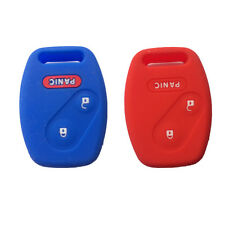 Blue and Red Silicone Keyless Entry Remote Key Fob Case Cover fit for Honda 2+1B