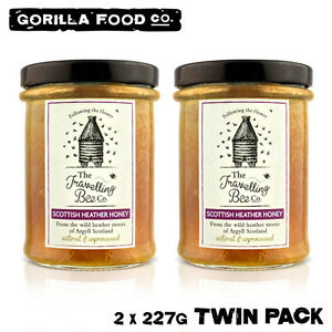 Travelling Bee Co. Natural Scottish Heather Honey - 2 x 227g Twin Pack