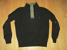 Polo Ralph Lauren VTG Black Green 1/4 Zip Snap Pullover Shirt Jacket Men's M T3