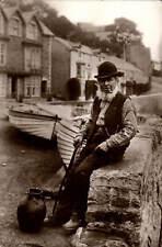 Bristol photo. Old Man & Pipe by Harvey Barton, Bristol.