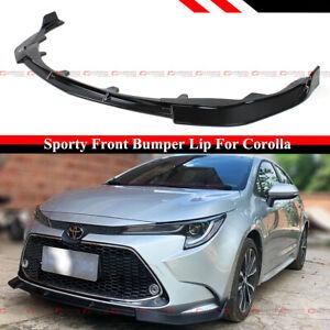 For 2020-2021 Toyota Corolla Sedan LE XLE Gloss Black Front Bumper Lip Splitter