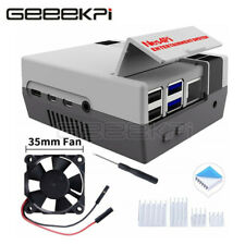 GeeekPi NES CASE for Raspberry Pi 4,Nes4pi ABS Case with Cooling Fan & Heatsinks