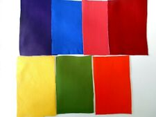 Brand New RAINBOW Colours - 7 GENUINE LEATHER PIECES for CRAFTS and HOBBIES