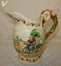 Elegant Shape Signed/stamped Hand Painted With Bull Rushes Loyal Burleigh Ware Vase