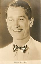 1930s Real Photo Postcard Young Maurice Chevalier French Movie Actor Unposted