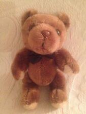 "Vintage 9"" Russ ? Plush Stuffed Brown Teddy Bear Jointed Arms Legs Head"