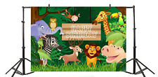 Yeele 5x4ft Happy Birthday Party Backdrop Vinyl Cute Animal Jungle Safari Zoo