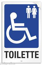 """Cartello PVC adesivo """"Toilette disabili uomo/donna"""""""