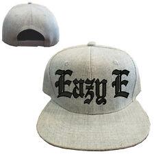 Heather gray wool blend EAZY E Vintage Snapback Cap Hat