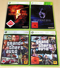 4 xbox 360 jeux collection Grand theft Auto GTA IV episodes resident evil 5 6 v