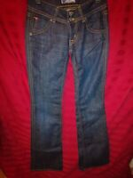 HUDSON Size  Slight Flare Flap Pkt Stretch Dark Blue Denim Jean Women USA