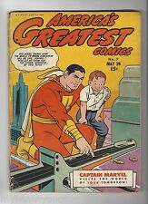 America's Greatest Comics Captain Marvel Volume 2 # 7 From May, 1943. F/VF.