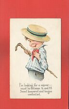 """Young Man """"dandy"""" w/straw hat cane, looking for """"squaw"""" (lady) between 16 and 35"""
