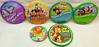DISNEYLAND-CA ADVENTURE BUTTONS PINBACKS-LOT OF 6-1ST VISIT-HAPPY B-DAY+ MORE!