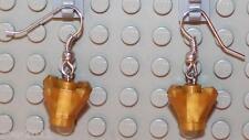 LEGO Earrings Pearl Gold Rock  NEW!!!