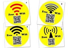 12 oder 24 Aufkleber Etikett Glänzend -Rund 40mm- Wlan Wifi mit eigenem QR Code