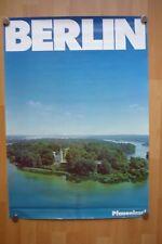 Altes Original Plakat Berlin Werbeplakat Pfaueninsel 84 x 60 cm Top um 1979