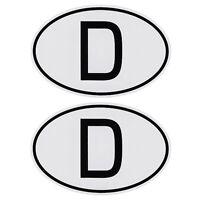2 x D-Schild magnetisch Deutschland D Schild 2er Set Magnet 13,5 cm HR / RICHTER
