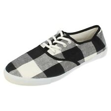 mens Black/white Canvas lace up shoe By unbranded £5.99