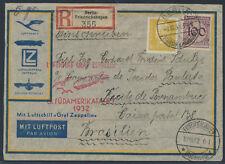 Zeppelin 8.SAF 1932 Zeppelinbriefkuvert Einschreiben Berlin Brasilien (S15439)