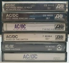 AC/DC - LOT of 6 CASSETTE TAPES SEE PICS FOR ALL TITLES DIRTY DEEDS/HIGH VILTAGE