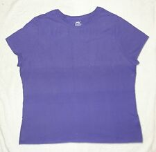 Just My Size JMS Plus 100% Cotton Jersey Crew Neck Tee 4X Blue Iris NEW