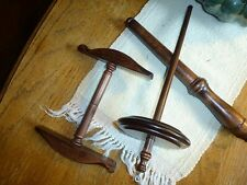Kromski Niddy Noddy Nostopinne and Drop Spindle Set Walnut Directions Included
