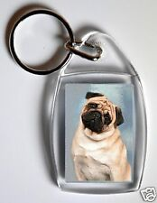 Pug Key Ring No 2 By Starprint - Auto combined postage