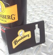 3 x Bundaberg Bundy Rum Credit Card Glass Bottle Opener - Fits in Your Wallet!