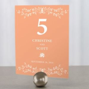 Personalized Forget Me Not Wedding Table Numbers