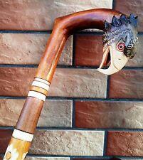 Cane Walking Stick NEW MODEL EAGLE Wood Wooden Handmade Woodcarving Art