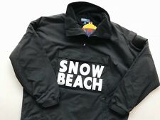 RALPH LAUREN POLO [SZ XL] SNOW BEACH PULLOVER JACKET BLACK WHITE RUGBY 1993 WING